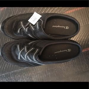 NWT Champion Size 9 Slip On Mule Black Sneakers